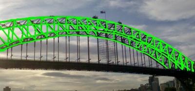 Harbour Bridge Flourescent Green
