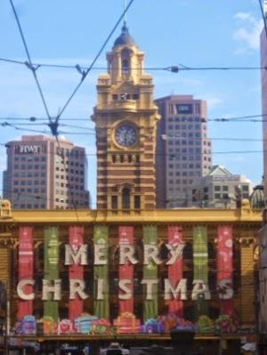 Flinders Street Station - Merry Christmas