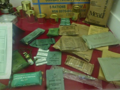 Army Ration Display