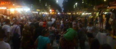 White Night Crowds