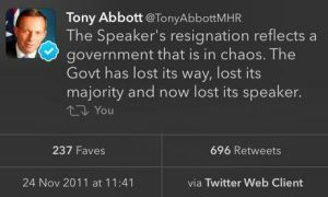 Tony Abbott Tweet