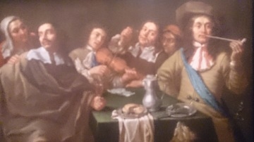 Painting of a party