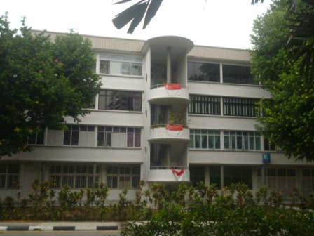 Apartment with flags