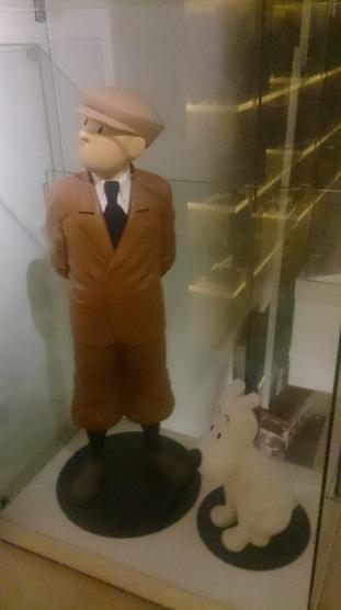 Tintin statue