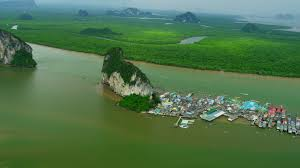 (pic - Story) James Bond Island - Panyee Aerial Again