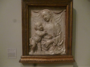 Madonna and Child Carving