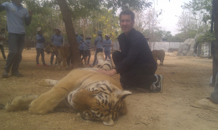 (pic - Story) Adelaide Zoo - Me with Tiger