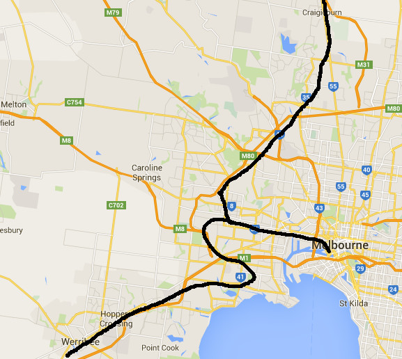 (pic - Story) Overland - Route out of Melboure