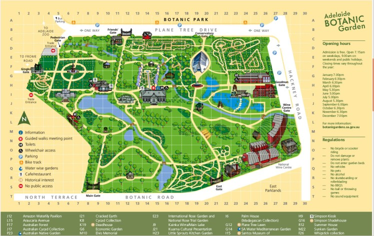 (pic - Story) Adelaide Gardens - Map