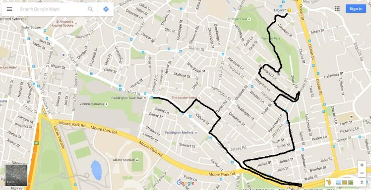 (pic - Story) Paddington - Map