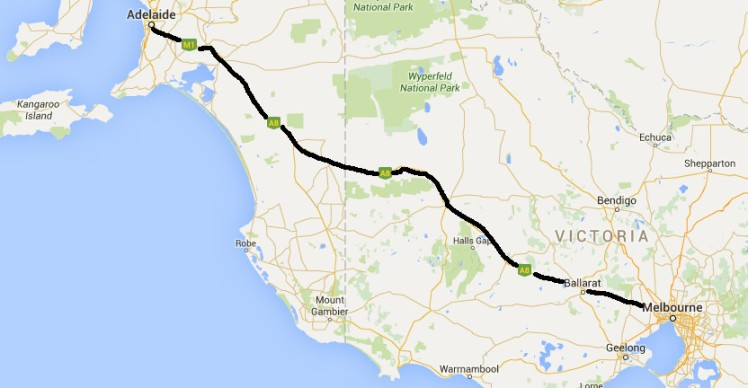 (pic - Story) To Melbs - Map