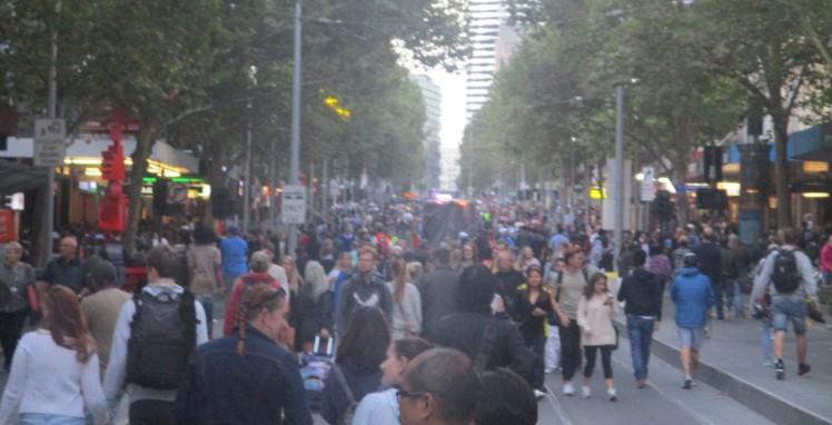 Swanston Street Crowds