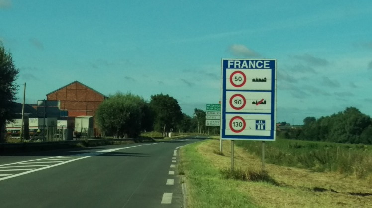 (pic - story) on the right side - entering france