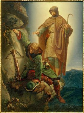 Schutzengel rettet Maximilian in der Martinswand / Rethel